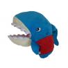 鯊魚頭手偶大-藍紅