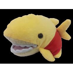 鯊魚頭手偶大-黃紅