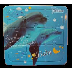 幼幼拼圖-海豚寫真9片