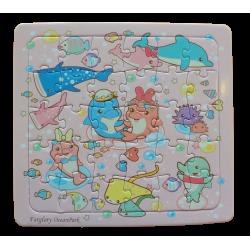 幼幼拼圖-夢幻海豚寶寶30片