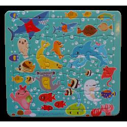 幼幼拼圖-繽紛海底生物30片