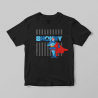SHONKY超人條紋短T-黑